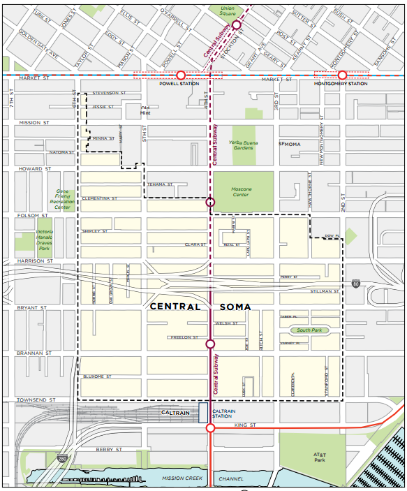 Central SOMA plan view