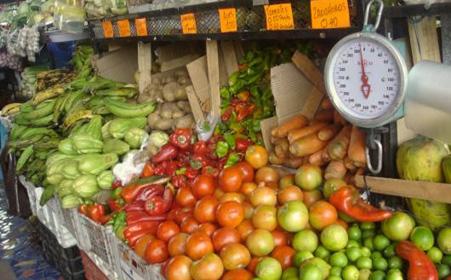 Market stand of vegetables
