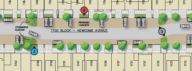 Newcomb Ave Area Map