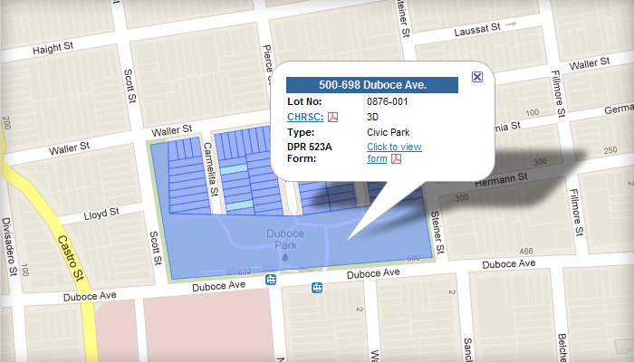 Duboce Park Historic District: Building Evaluations Map