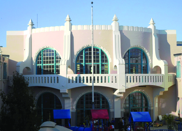 exterior view of building