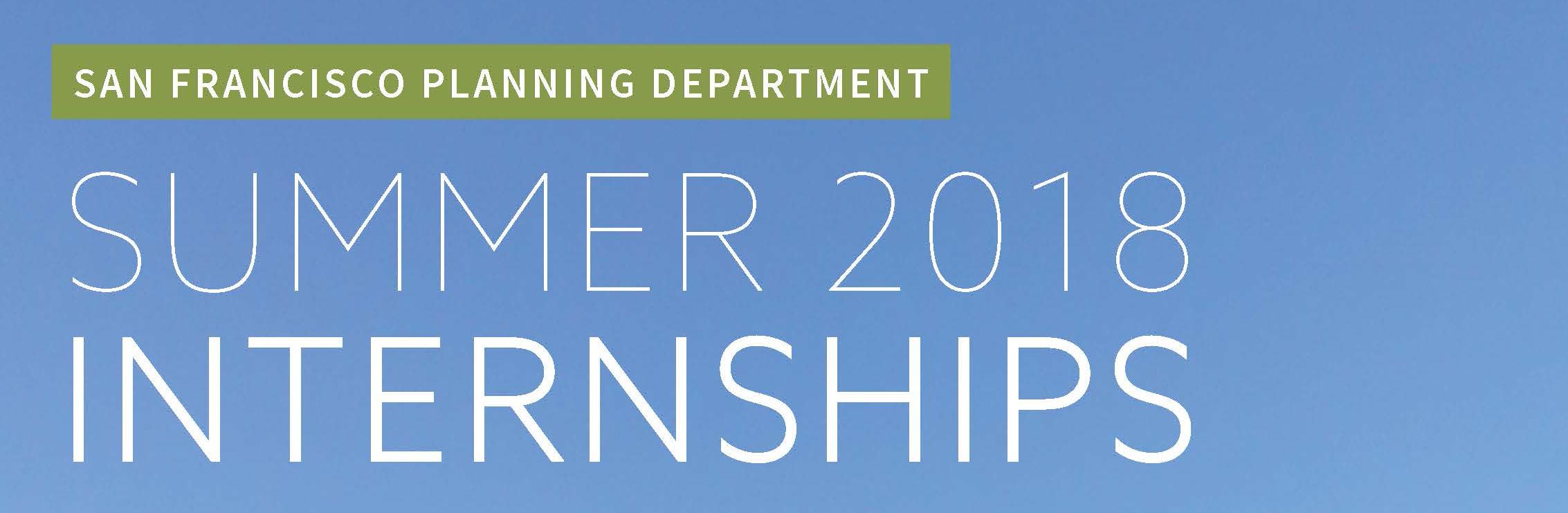 2018 Summer Internship Program Header