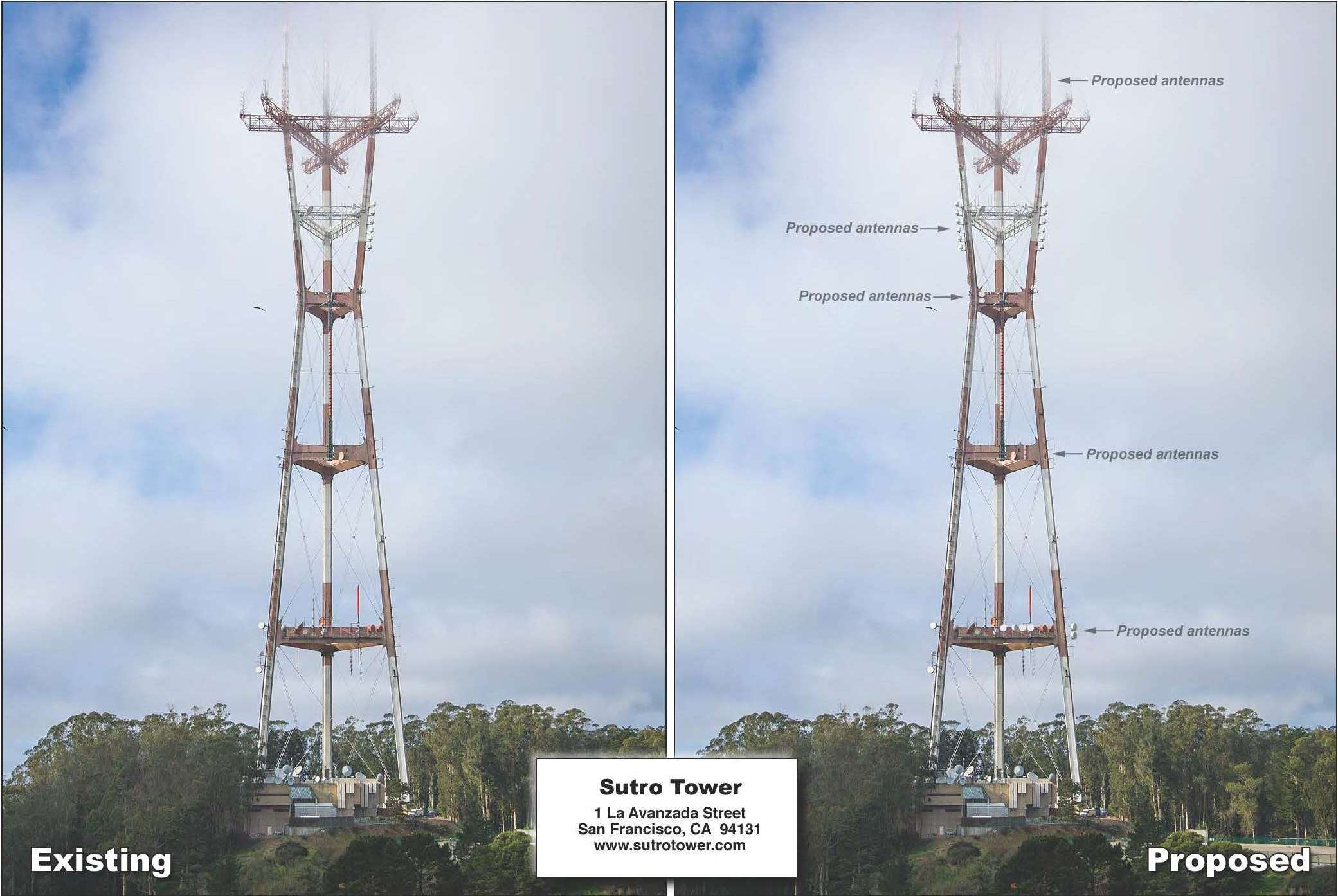 Proposed Photo Simulation of Sutro Tower Modification