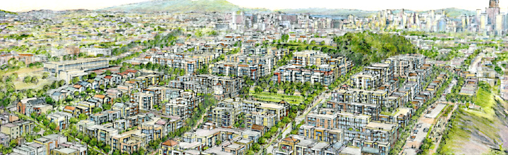Schematic drawing of proposed Potrero development