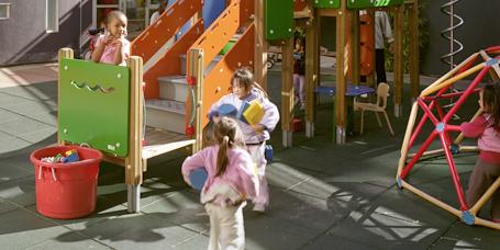 kids playing at playground