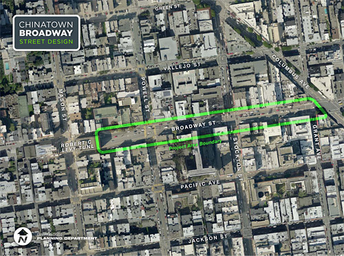 Download the Chinatown Broadway Street Design project area boundary map