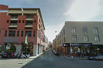 Before and after rendering of Fern and Polk Streets