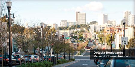 Plan Implementation banner: Octavia Boulevarde / Market & Octavia Area Plan