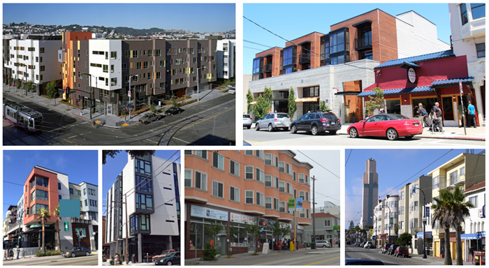 six examples of mixed-use buildings