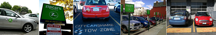 Examples of dedicated car share parking spaces