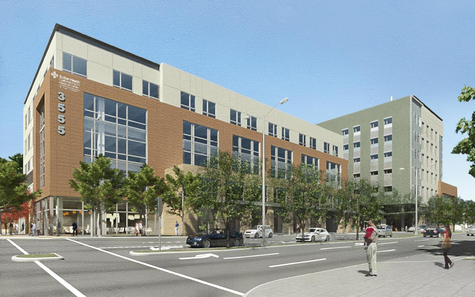 St. Luke's Campus rendering as seen from the corner of Valencia and Cesar Chavez
