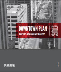 cover of downtown plan annual report