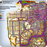 San Francisco Background Noise Map