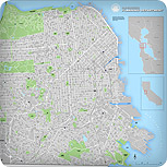 San Francisco Street Map without buildings