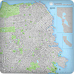 San Francisco Street Map with block numbers